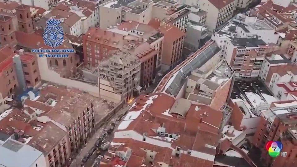 นาทีระทึก! ระเบิดตึก 7 ชั้น ทำอาคารพังถล่มในสเปน
