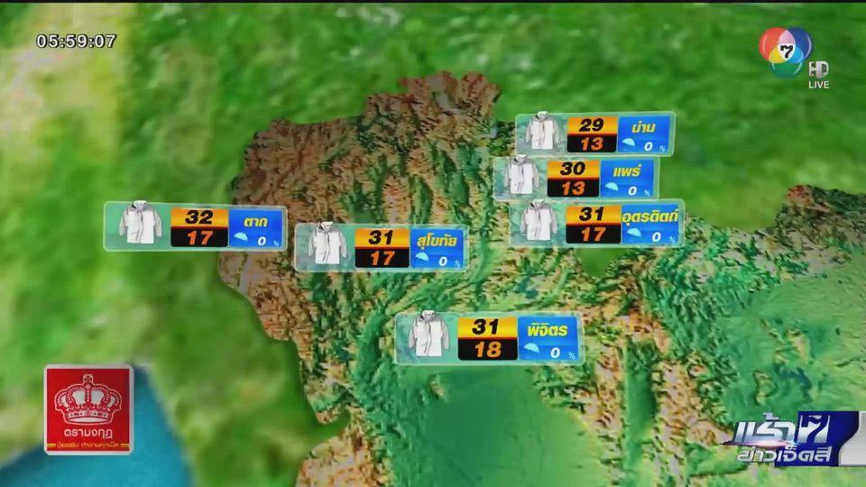 พยากรณ์อากาศวันนี้ 11 กุมภาพันธ์ 2564