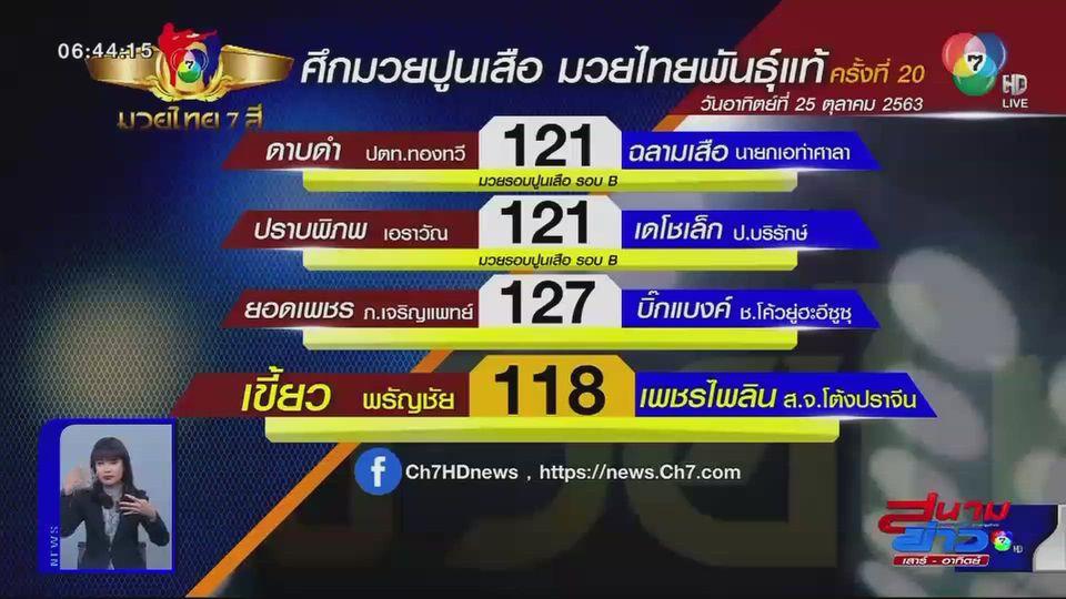 มวยเด็ดวิกหมอชิต : ตารางการแข่งขันมวยไทย 7 สี
