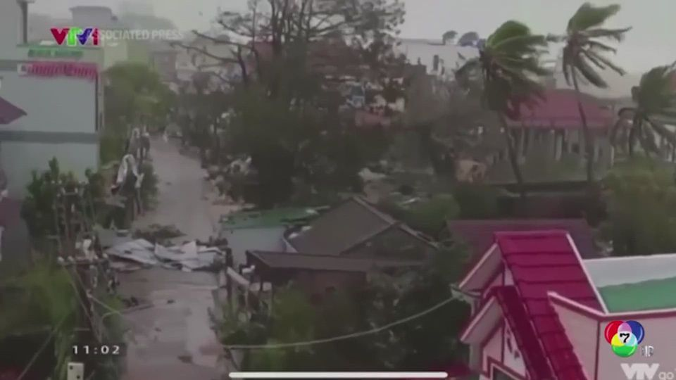 คืบหน้าพายุไต้ฝุ่นโมลาเบ พัดถล่มเวียดนาม