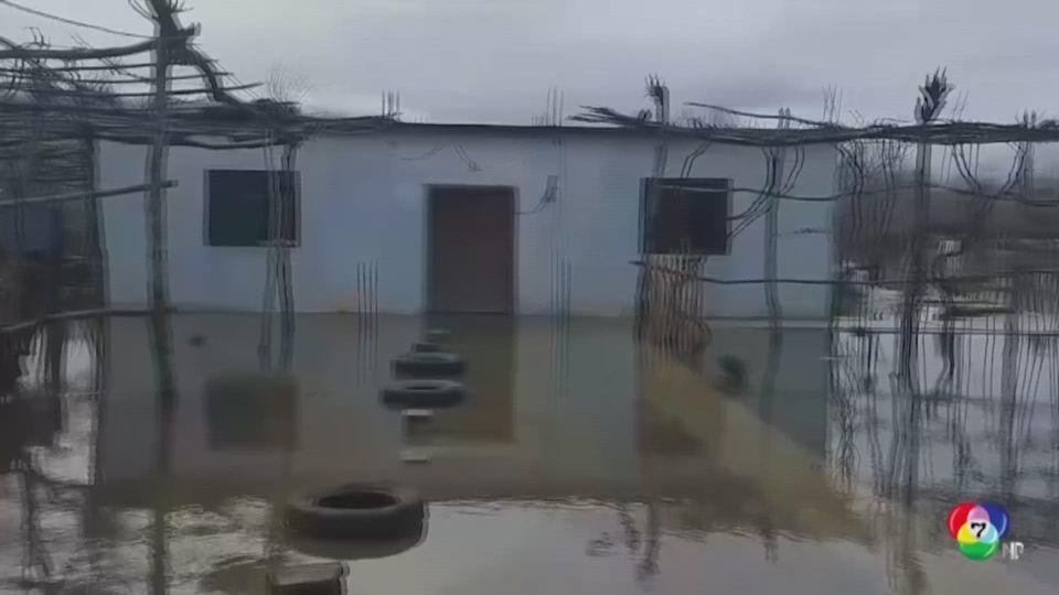 น้ำท่วมหนักในแอลเบเนีย อพยพ 3 ครอบครัวออกจากพื้นที่