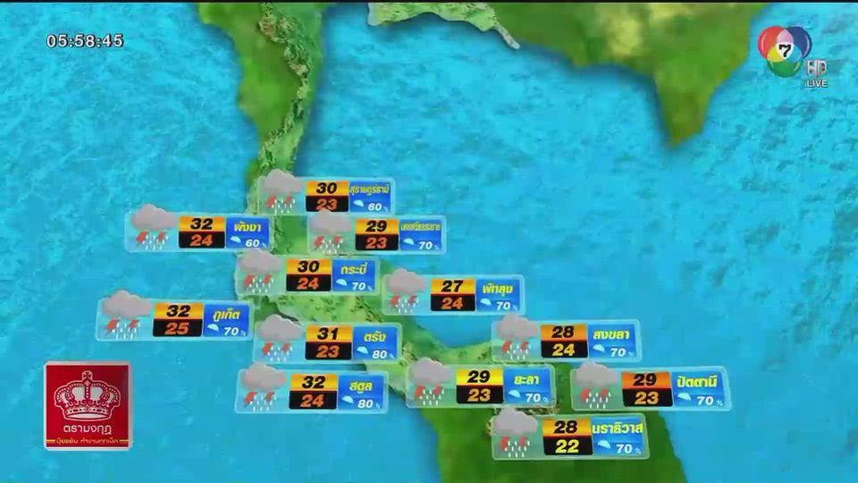 พยากรณ์อากาศวันนี้ 3 ธันวาคม 2563