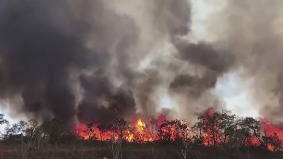 โคมลอยทำไฟป่าลุกลามหนักในเขตอุทยานของบราซิล