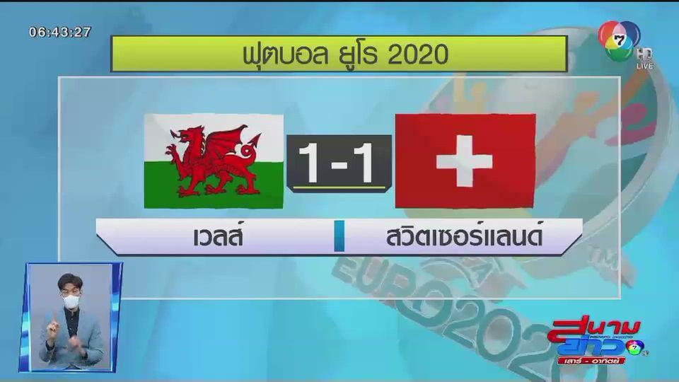 """ผลฟุตบอลชิงแชมป์แห่งชาติยุโรป """"ยูโร 2020"""" รอบแบ่งกลุ่ม เวลส์ – สวิตเซอร์แลนด์ เสมอ"""