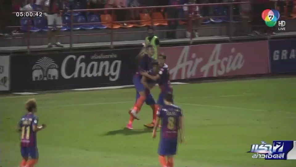 ฟุตบอลไทยลีก การท่าเรือฯ เปิดบ้านชนะ เมืองทองฯ แต้มตามจ่าฝูง บีจี ปทุมฯ 4 คะแนน