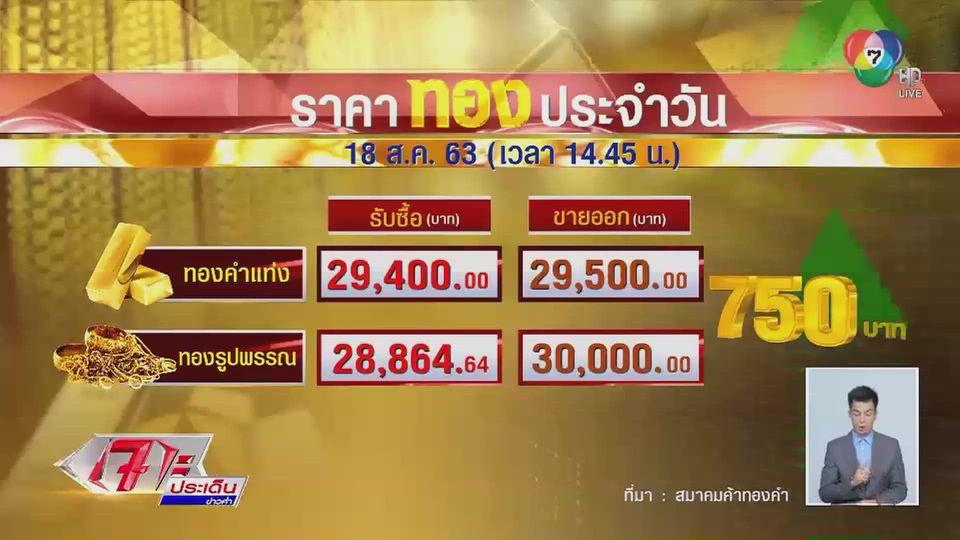 ราคาทองวันนี้ ทองรูปพรรณกลับมาแตะ 30,000 บาท หลังราคาปรับขึ้นทั้งวัน