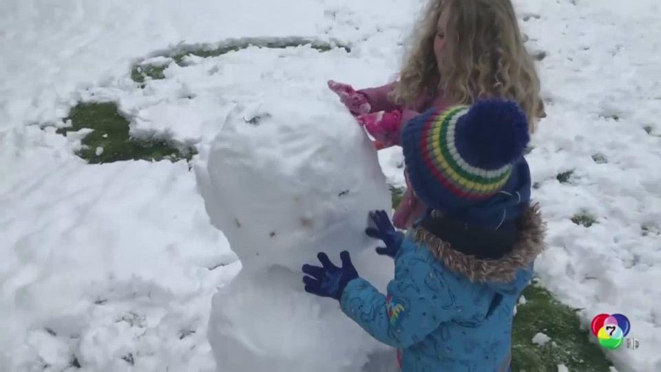 หิมะตกหนักในอังกฤษ-อิตาลี เป็นอุปสรรคต่อการสัญจร