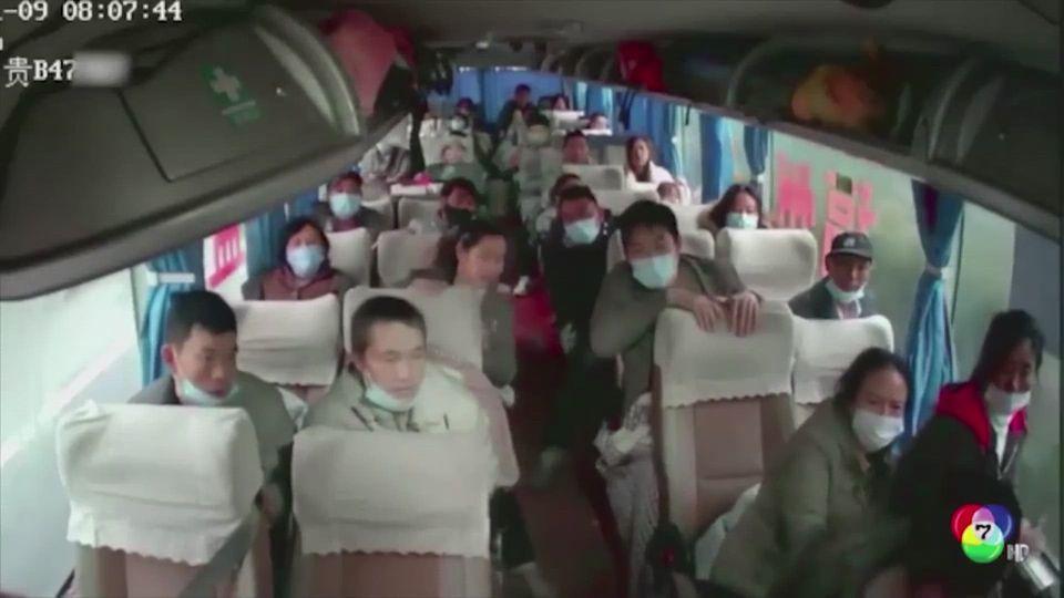 นาทีระทึก! ผู้โดยสารใช้ค้อนฉุกเฉินบนรถ ทุบหัวพนักงานขับรถ ในจีน