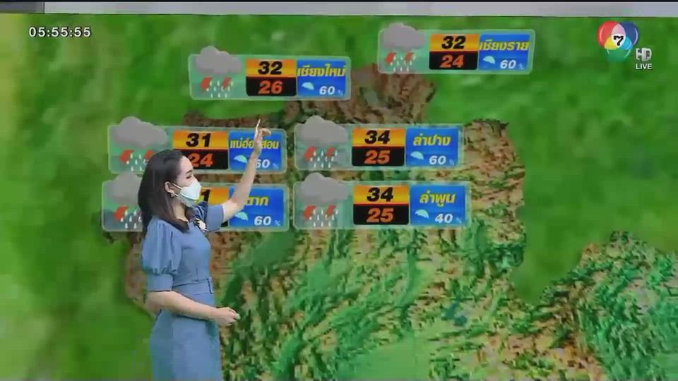 พยากรณ์อากาศวันนี้ 4 สิงหาคม 2564