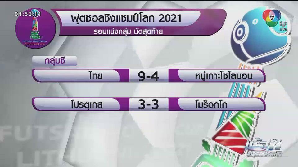 ฟุตซอลชิงแชมป์โลก ไทย ชนะ หมู่เกาะโซโลมอน ผ่านเข้ารอบ 16 ทีมฯ