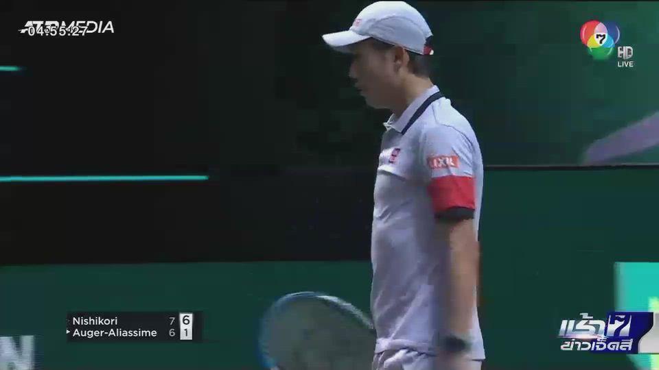 เคอิ นิชิโคริ ผ่านเข้ารอบ 2 เทนนิสเอบีเอ็น แอมโร่ เวิลด์ เทนนิส ทัวร์นาเมนท์