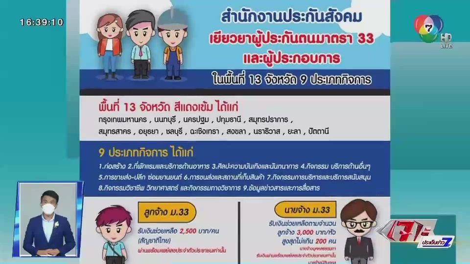 ทยอยโอนเงินเยียวยา ม.33 แจงระบบ เรียงตามเลขบัตรประชาชน