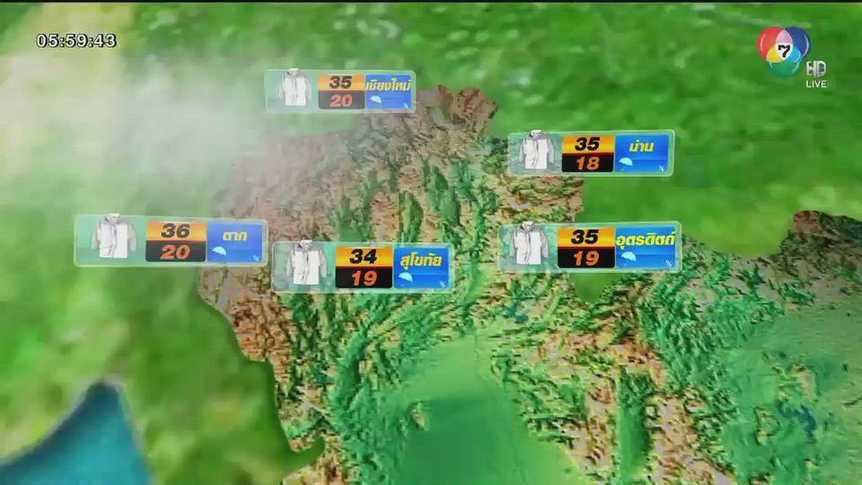พยากรณ์อากาศวันนี้ 24 กุมภาพันธ์ 2564