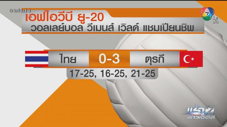 ตบสาวไทย พ่าย ตุรกี 0-3 เซต ศึกวอลเลย์บอลหญิง U20 ชิงแชมป์โลก