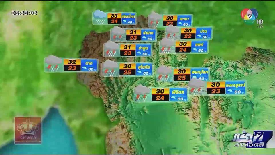 พยากรณ์อากาศวันนี้ 29 เมษายน 2564