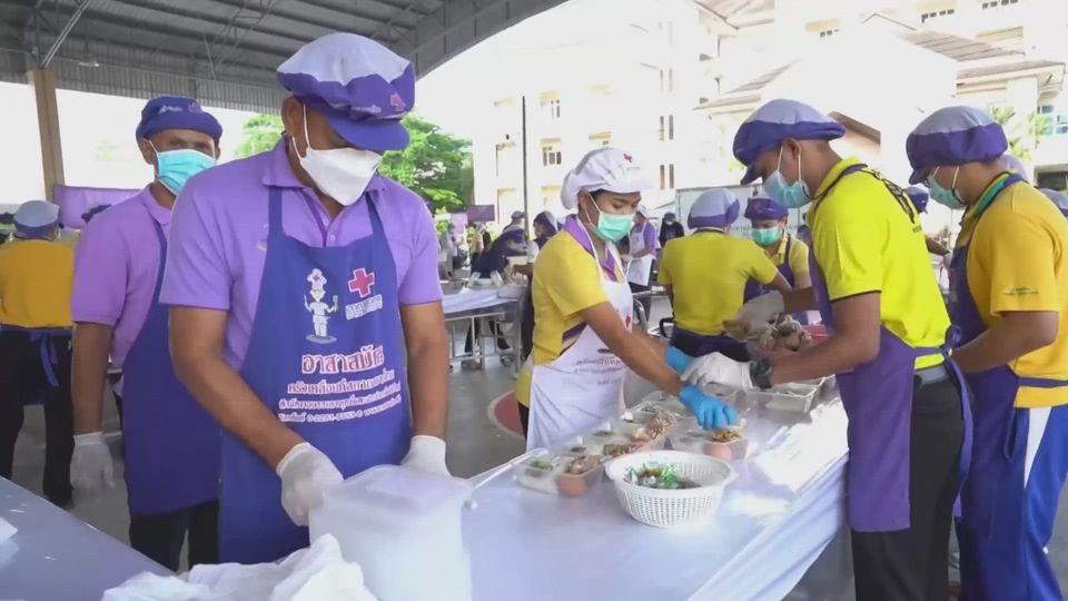 หน่วยงานต่าง ๆ ประกอบอาหารมอบแก่ประชาชน และบุคลากรทางการแพทย์ เพื่อบรรเทาความเดือดร้อนจากการแพร่ระบาดของโรคโควิด-19