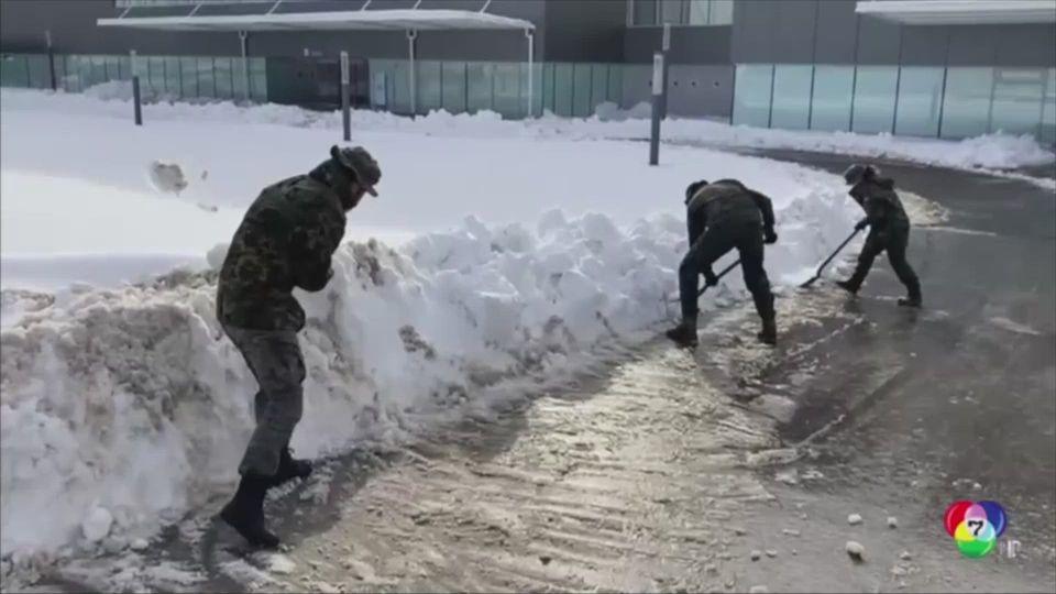 สเปนเร่งกำจัดหิมะ หลังเกิดพายุหิมะถล่มหนักสุดรอบ 50 ปี