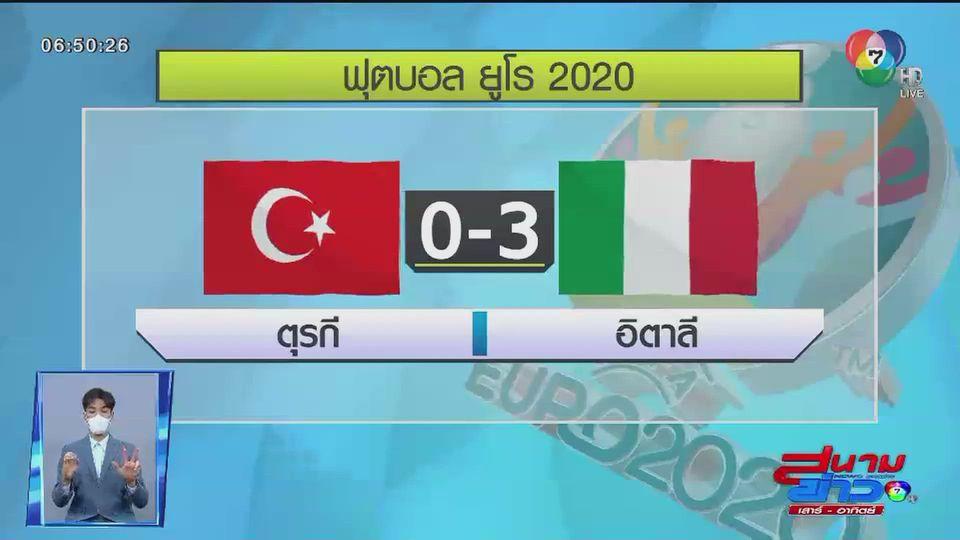 อิตาลีประเดิมศึกยูโร 2020 ชนะ ตุรกี