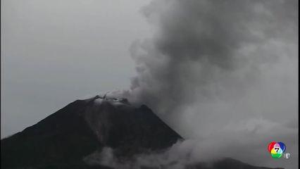 ภูเขาไฟ ซินาบุง ในอินโดนีเซีย ปะทุหนัก