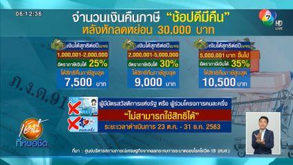 เปิดเงื่อนไขคืนภาษี ช้อปดีมีคืน ลดหย่อนภาษีสูงสุดไม่เกิน 30,000 บาท