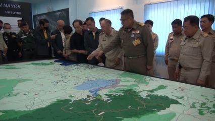 องคมนตรี ไปติดตามการสนองพระราชดำริในการแก้ไขปัญหาน้ำท่วม น้ำแล้ง และการบริหารจัดการน้ำตามแนวพระราชดำริ ที่จังหวัดปราจีนบุรี และนครนายก