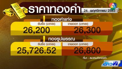 ราคาทองร่วงต่ำสุดในรอบ 4 เดือน ปรับลดลงบาทละ 550 บาท