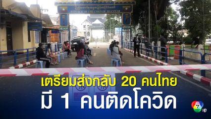 เมียนมาเตรียมส่ง 20 คนไทยกลับประเทศ ตรวจพบชาย 1 คนติดโควิด-19
