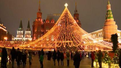 ชาวรัสเซีย ร่วมเฉลิมฉลองคริสต์มาสอย่างมีความสุข