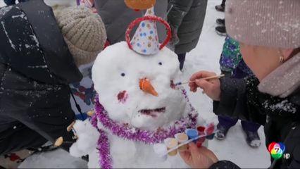 สีสันเทศกาลตุ๊กตาหิมะในรัสเซีย