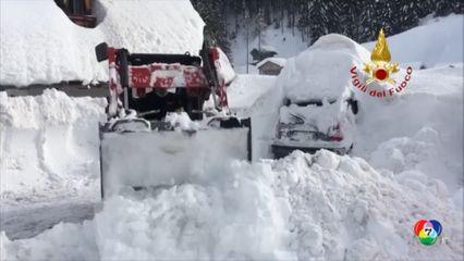 หิมะตกหนักในหลายพื้นที่ของสเปนและอิตาลี จนท.เร่งเคลียร์เส้นทาง