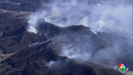 ไฟป่าลุกลามรุนแรงในจังหวัดโทจิงิ ของญี่ปุ่น