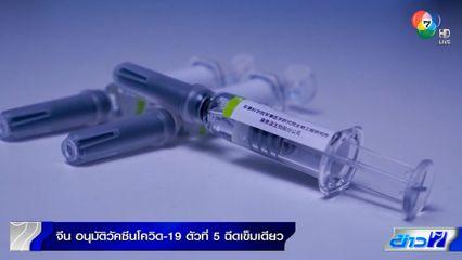 จีนอนุมัติวัคซีนโควิด-19 ฉีดเข็มเดียว ประสิทธิภาพป้องกันสูงกว่า 74%