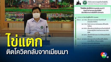 สุโขทัยไข่แตก พบผู้ป่วยโควิดเป็นหญิงไทยกลับจากเมียนมา
