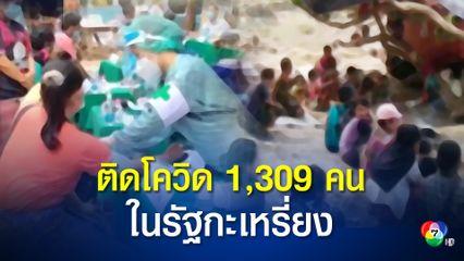 รัฐกะเหรี่ยงของเมียนมา พบผู้ติดโควิด-19 แล้วกว่า 1300 คน