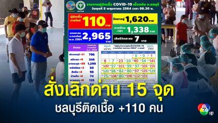 ชลบุรียอดติดโควิดพุ่งไม่หยุด พบผู้ป่วยเพิ่มอีก 110 คน ผู้ว่าฯสั่งด่วนเลิกด่านตรวจ 15 จุด