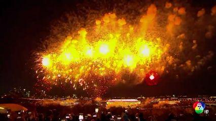 รัสเซียจุดพลุดอกไม้ไฟฉลอง 76 ปี วันแห่งชัยชนะ