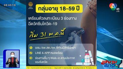 เริ่มจองคิว หมอพร้อม ฉีดวัคซีนประชาชนทั่วไป 31 พ.ค.นี้