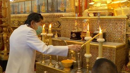 พระบาทสมเด็จพระเจ้าอยู่หัว ทรงพระกรุณาโปรดเกล้าโปรดกระหม่อมให้ หม่อมเจ้ามงคลเฉลิม ยุคล เสด็จแทนพระองค์ไปทรงจุดเทียนรุ่ง ที่ทรงพระราชอุทิศบูชาพระรัตนตรัย เนื่องในพระราชพิธีทรงบำเพ็ญพระราชกุศลวิสาขบูชา