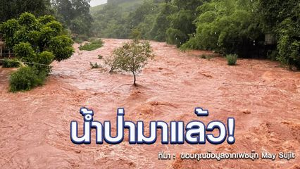 น้ำป่ามาแล้ว! ทะลักพื้นที่ อ.บ่อเกลือ จ.น่าน ฝนตกต่อเนื่อง เหนือตอนบน - อีสาน รับมือ