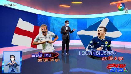 เปิดสถิติ 114 เกม อังกฤษ vs สกอตแลนด์ ก่อนดวลแข้งยูโร 2020 รอบแบ่งกลุ่ม คืนนี้