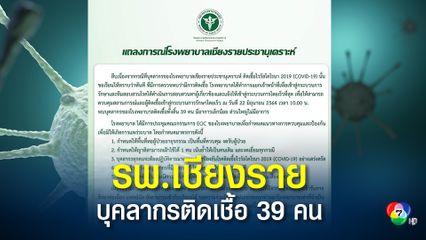 รพ.เชียงรายฯ บุคลากรติดเชื้อ 39 คน ให้บริการได้แค่ 50%