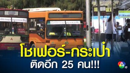 ติดพิ่มอีก! พนักงาน ขสมก.ติดโควิดอีก 25 คนยอดรวม 476 คนพักใช้รถเมล์ร้อนเย็น77 คัน