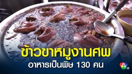 เตือนอาหารเป็นพิษ ข้าวขาหมูงานศพ จ.น่าน ป่วย 130 คน ย้ำต้องอุ่นร้อนก่อนกิน