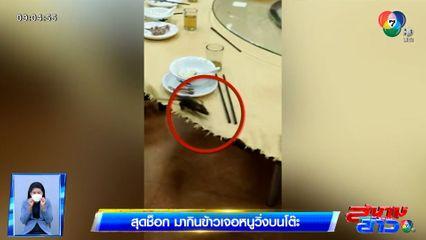 ภาพเป็นข่าว : สุดช็อก! กินข้าวในร้านอาหาร เจอหนูวิ่งบนโต๊ะ