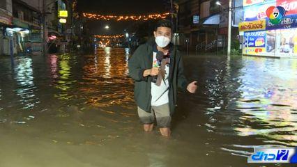 เร่งระบายน้ำท่วมย่านเศรษฐกิจเมืองชัยภูมิ