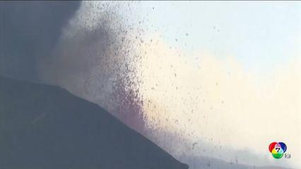 สเปน เร่งกำจัดเถ้าถ่านภูเขาไฟ ปกคลุมพื้นผิวสนามบิน